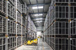 Géolocalisation UWB par iidre des chariots en entrepôt